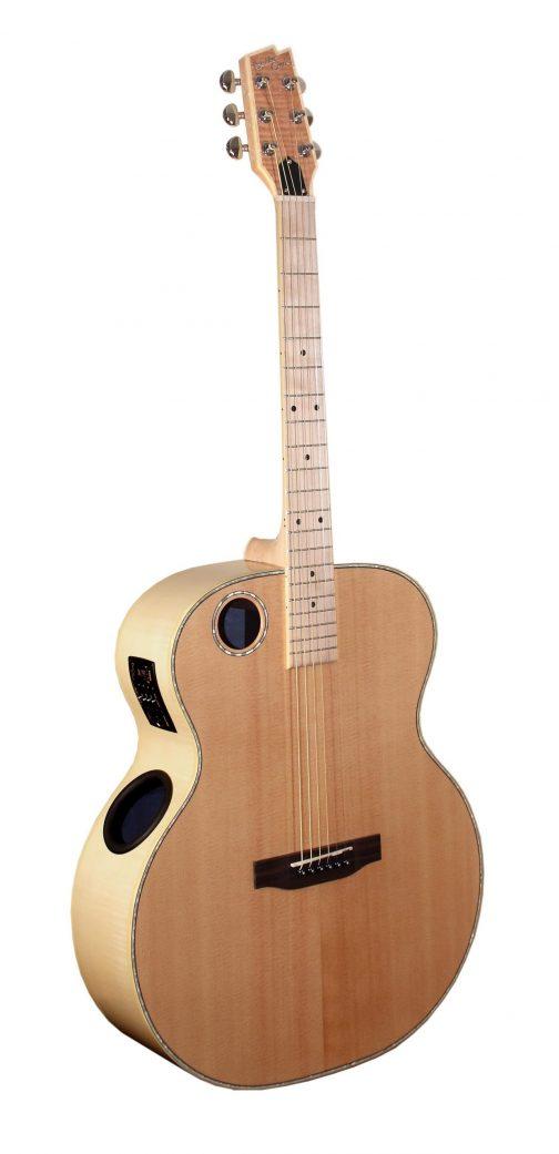 Boulder Creek Guitar, Jumbo Acoustic Spruce/Flame Maple ERJ7-N