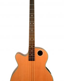 Boulder Creek Guitar, Acoustic Bass Cedar Top Fretless Lefty EBR3-N4LHF