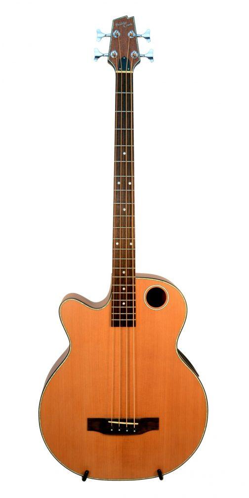Boulder Creek Guitar, Acoustic Bass Cedar Top Fretless Lefty EBR3-N4LHF