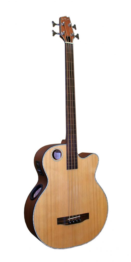 Boulder Creek Guitar, Acoustic Bass Cedar Top Fretless EBR3-N4F