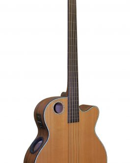 Boulder Creek Guitar, Acoustic Bass Cedar Top Fretless EBR3-N5F