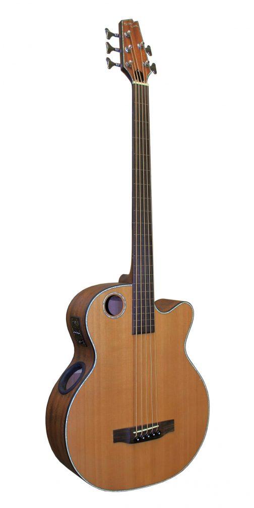 Boulder Creek Guitar, Acoustic Bass Cedar Top Fretless EBR3-N5F
