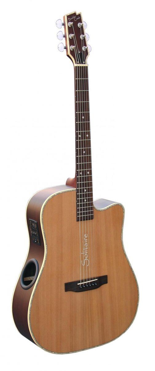 Boulder Creek Guitar, Solitaire Cutaway Spruce/Rosewood ECR4-NS