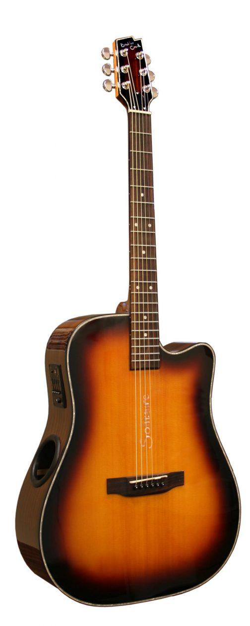 Boulder Creek Guitar, Solitaire Cutaway Spruce/Rosewood ECR2-C