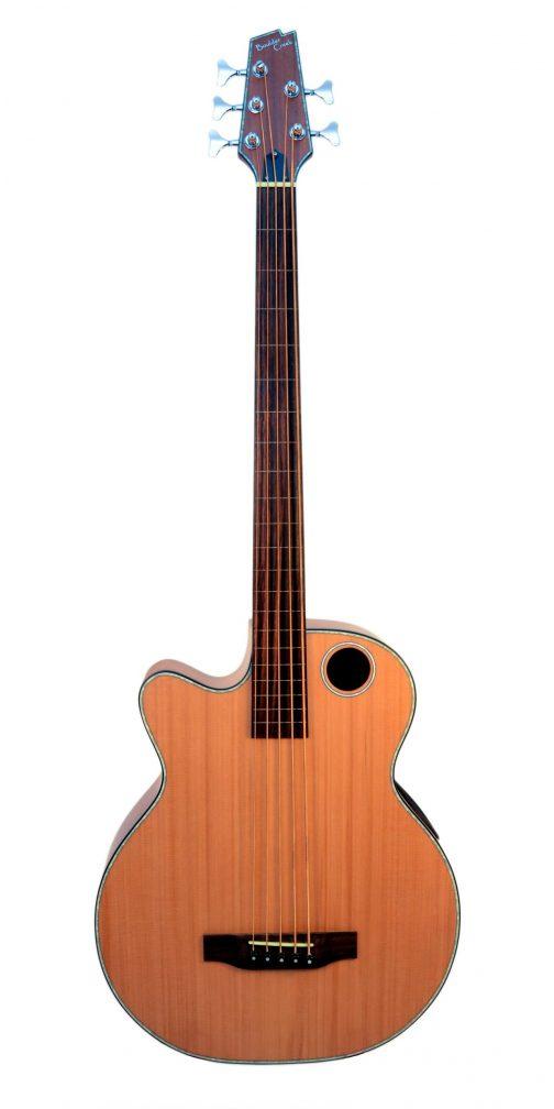 Boulder Creek Guitar, Acoustic Bass Cedar Top Lefty EBR3-N5LHF