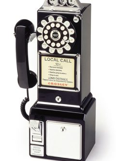 1950's Classic Pay Phone – Black CR56-BK